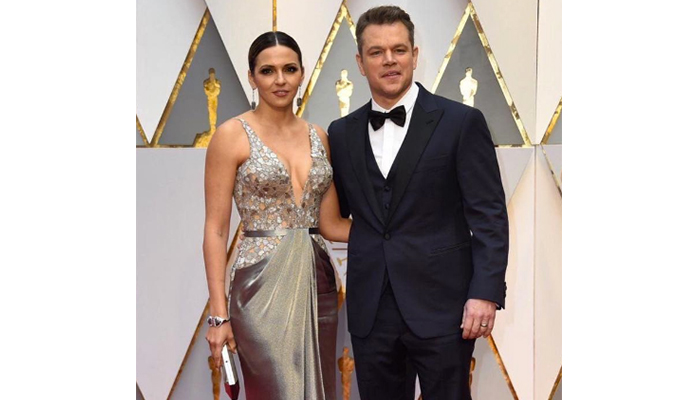 The Couple That Glams Together Stays Together: Matt Damon & Luciana Barroso