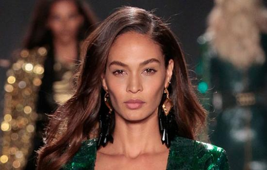 Of Course Joan Smalls Shut Down the BALMAIN X H&M Runway —Come See the Pics