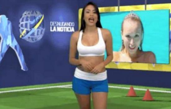 A Venezuelan Reporter Made a Promise (& Kept it!) to get Naked if her Team Won