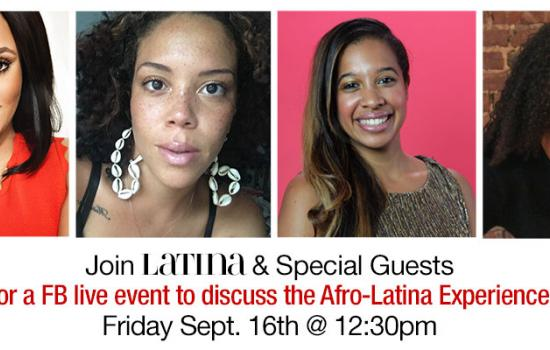 Join Us For Our Facebook Live On The Afro-Latina Experience With Tahiry and Top Chef's Santana