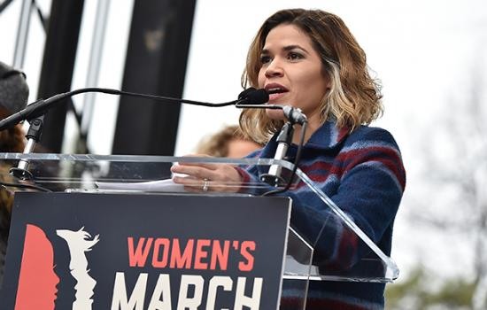 """America Ferrera Delivers Powerful Speech During Women's March: """"The President is Not America"""""""