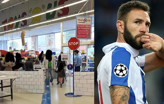 Mexican Soccer Player finds 'Border Wall' In Portuguese Toys R Us