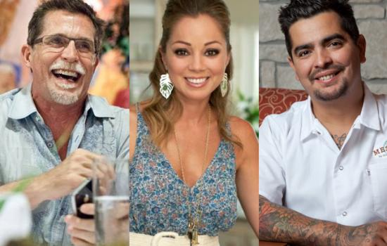 Rick Bayless, Marcela Valladolid and Aaron Sanchez