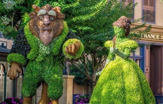 Beauty and The Beast Garden Disney Epcot