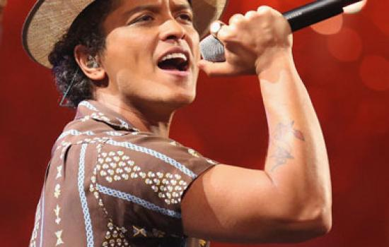 Bruno Mars performs at the iheartradio Music Festival
