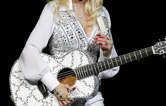 Dolly Parton performs in Perth, Australia