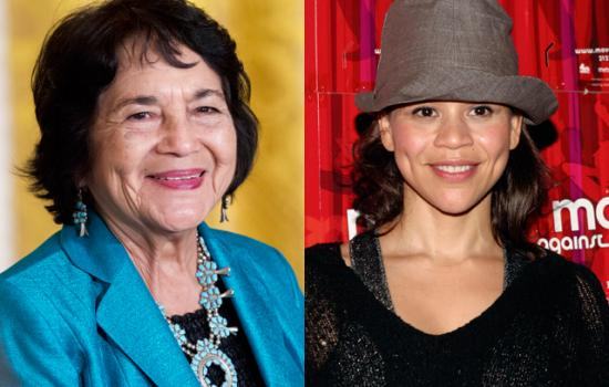 Dolores Huerta and Rosie Perez