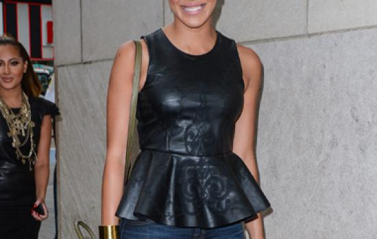 Julissa Bermudez leaves Big Morning Buzz in New York City in August 2012