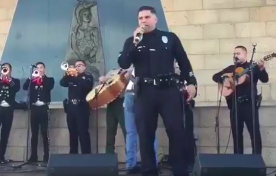 LAPD Officers Performing Mariachi