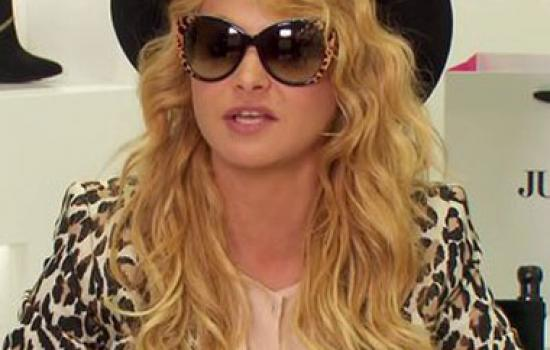 Paulina Rubio at a Just Fab event