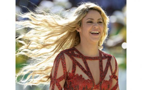 Shakira during the World Cup finale