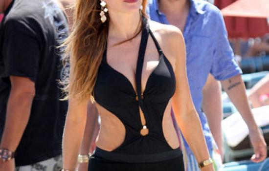 Sofia Vergara in monokini in Greece